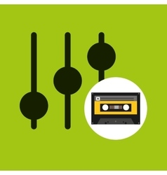 Equalizer music cassette tape vector