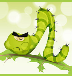 Funny caterpillar character vector