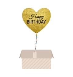 Gold balloon card vector
