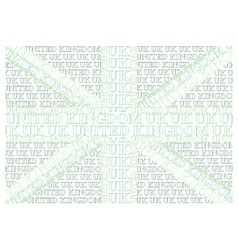 Green United Kingdom Text Flag vector image