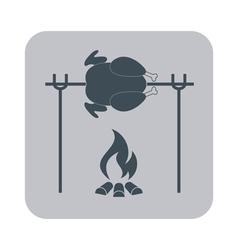 Grilled chicken iconchicken vector