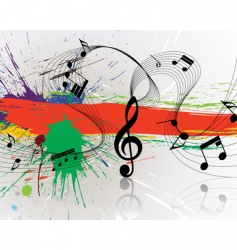 grunge music notes vector image vector image