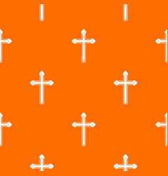 holy cross pattern seamless vector image