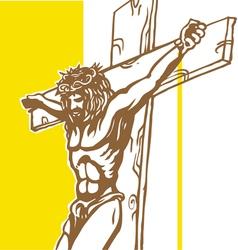 jesus vatican flagConvertito vector image vector image