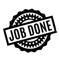Job done rubber stamp vector