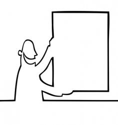 Man holding a bulletin board vector