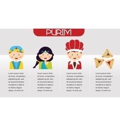 Purim story symbols of jewish holiday purim vector