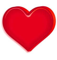 Relief heart vector image vector image
