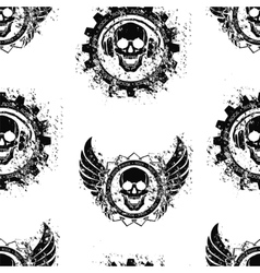Rock skull music pattern vector