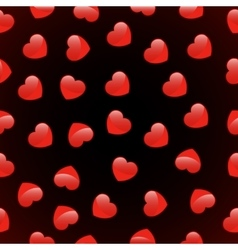 seamless pattern of red heart love vector image vector image