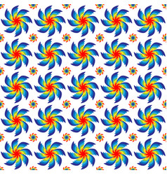 Seamless pattern of rotating bright colors of all vector