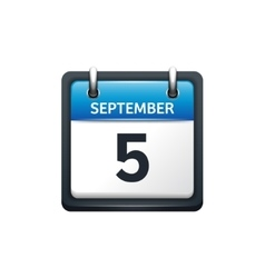 September 5 calendar icon vector