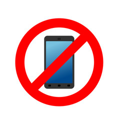 stop phone it is forbidden to call ban smartphone vector image vector image