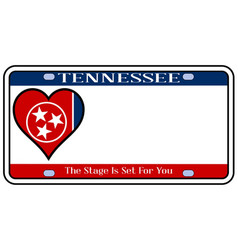 Tennessee state license plate vector