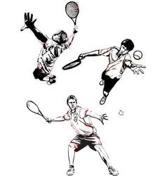 tennis trio vector image vector image
