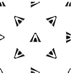 Tepee pattern seamless black vector