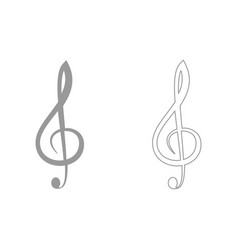 Treble clef set icon vector