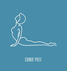 Yoga pose linear icon vector