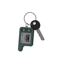 Car keys isolated key from auto flat cartoon vector