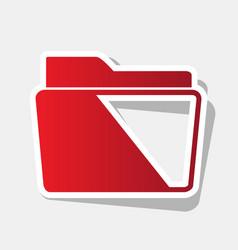 folder sign   new year reddish vector image