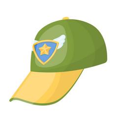 Cap football fanfans single icon in cartoon style vector