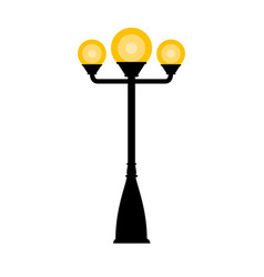 Vintage streetlight on white background vector