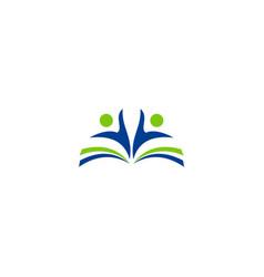 Education school book student logo vector
