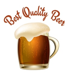 Best quality beer vector