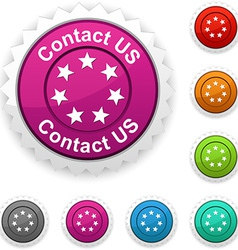 Contact us award vector
