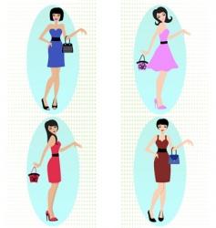 fashion girls vector image