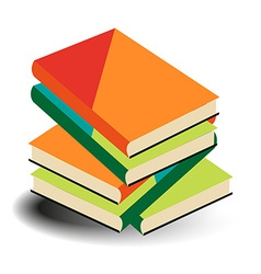 Books pile vector
