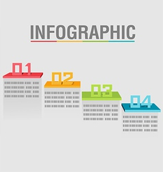 Info graphic layer color abstract shelves vector
