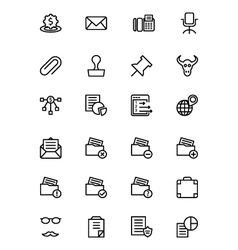 Finance line icons 8 vector
