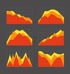 Graphic business ratings and charts collection vector image