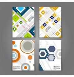 Abstract backgrounds set geometric shapes and vector