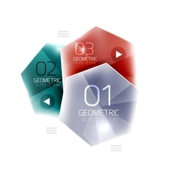 Colorful hexagon web box vector