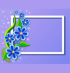 Background with beautiful paper-cut flowers vector