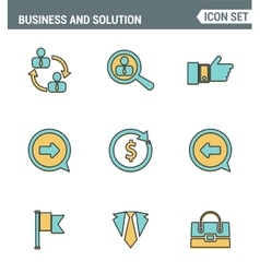 Icons line set premium quality of doing business vector