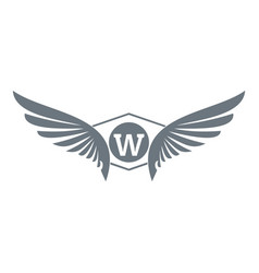 animal wing logo simple gray style vector image