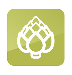 Artichoke outline icon vegetable vector