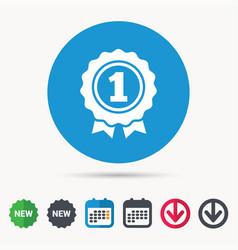 Award medal icon winner emblem sign vector