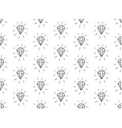 Black seamless pattern with diamonds vector