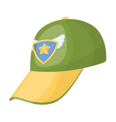 cap football fanfans single icon in cartoon style vector image
