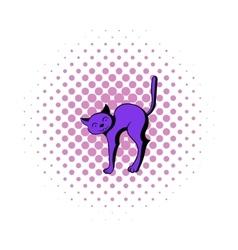 Cat icon in comics style vector