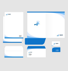 Corporate identity template design visual vector
