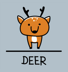 Deer hand-drawn style vector