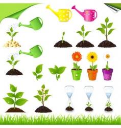 green set vector image vector image