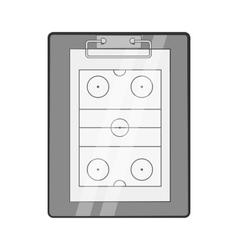 Hockey game plan icon black monochrome style vector