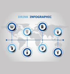 infographic design with drink icons vector image vector image