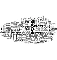 Is your financial well deep enough text vector